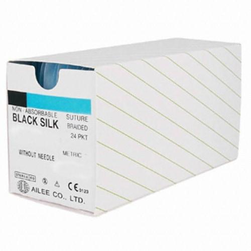 아이리  SK521 블랙 실크 봉합사 5-0 13mm 3/8 (1개)_이미지