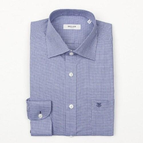 에스제이듀코 브로이어블루 도비 패턴 클래식핏 긴소매 셔츠 ED6FM31LS108BU_이미지