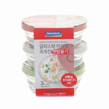 삼광글라스 글라스락 렌지쿡 햇밥용기 310ml(3개)