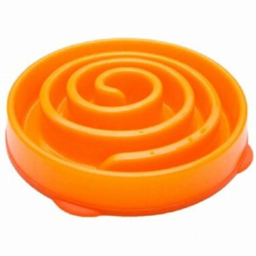 카이젠 슬로우 식기 중대형견용(오렌지)