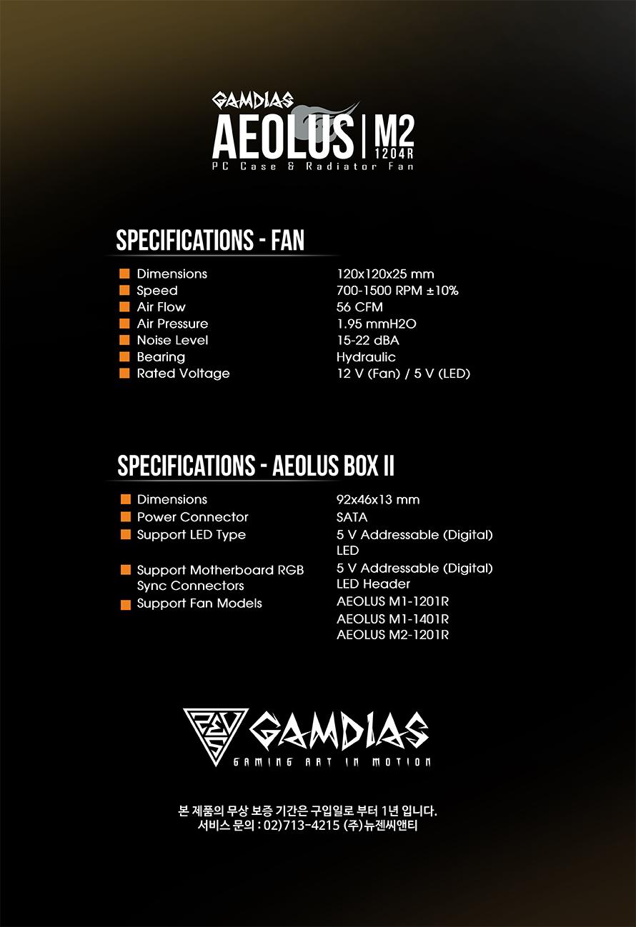 GAMDIAS  AEOLUS M2 1204R(4PACK/Controller)
