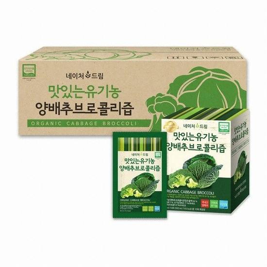 네이처드림 맛있는 유기농 양배추브로콜리즙 90ml 100포(1개)
