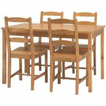 이케아  JOKKMOKK 원목 식탁세트 (의자4개)