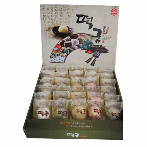 장원식품 떡궁 오색 아이스 찹쌀떡 50g(30개)