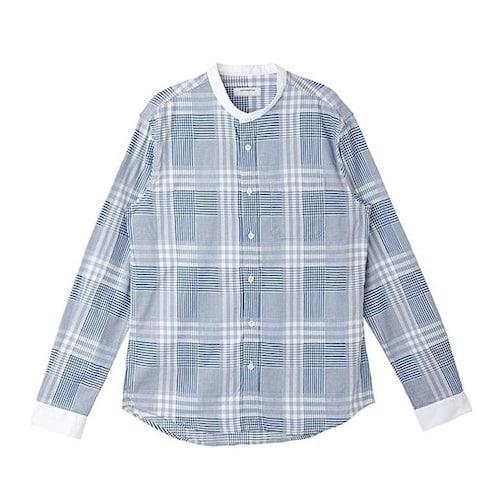 코오롱인더스트리 커스텀멜로우 mix check casual henry neck shirts CWSAW16300BUX_이미지