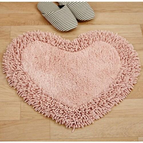 이랜드리테일 모던하우스 WOW 하트매트 핑크 (53x57cm)_이미지