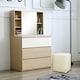 보루네오 보루네오하우스 아르메 콤비 3단 와이드 서랍장+수납거울+스툴 (83cm)_이미지