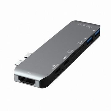 위즈플랫 6in1 4포트 Multiple USB Type C 허브 (WIZ-UC32)