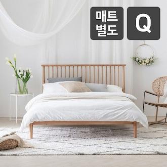 레이디가구 스칸딕 로맨틱 핀란드 원목 침대 Q (매트별도)_이미지