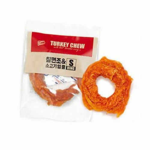 더주스 터키츄 칠면조와 소고기 힘줄 링 S 11g(1개)