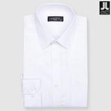 란체티  화이트 도트 도비 일반핏 긴소매 셔츠 LPF8231WH_이미지