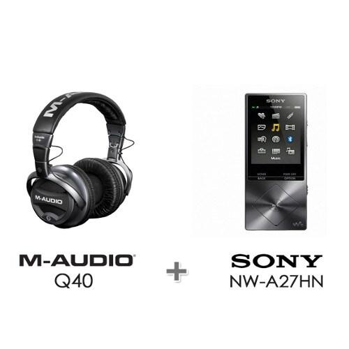 SONY Walkman NW-A27HN 64GB (M-AUDIO Q40 헤드폰, 정품)_이미지
