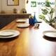 리빙디자인연구소 우아미 도나 멀바우 원목 식탁세트 1200 (의자2개+벤치1개)_이미지