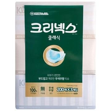 크리넥스 클래식 각티슈 200매 (3개)