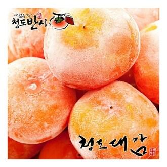 청도대감 씨없는 아이스홍시 미박 6개(과) 600g (6개)_이미지