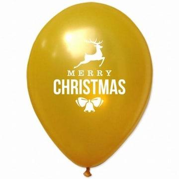 파티해 크리스마스 풍선 30cm - 루돌프(골드)