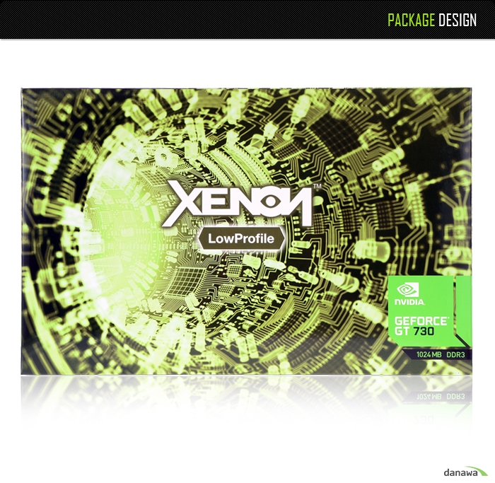 XENON GT730 D3 1GB LP 제품 패키지 구성