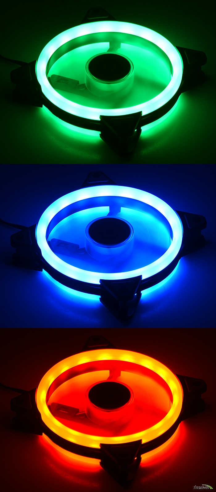 COOLERTEC  SUPER LED RING-12025 RGB-DUO