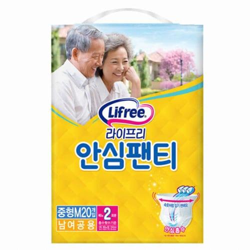 LG유니참 라이프리 안심팬티 중형 20개 (3팩(60개))_이미지