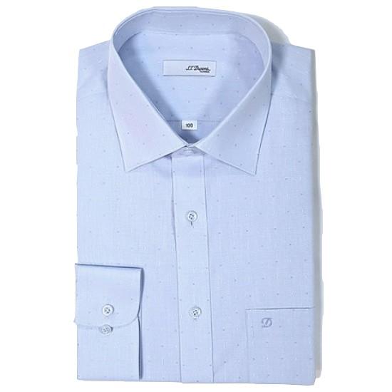 에스티듀퐁  일반핏 긴팔 블루 자가드 셔츠 SD8SM12L706SBU_이미지