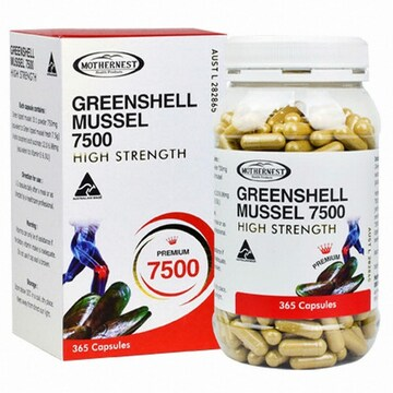 RBK 마더네스트 초록입홍합 MUSSEL 7500 365캡슐(1개)