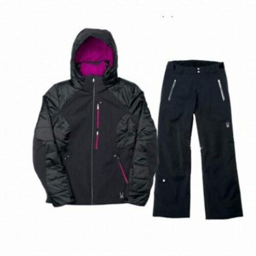 스파이더  패시트 남성 스키자켓+트래블러 팬츠 세트 154209+154501 블랙_이미지