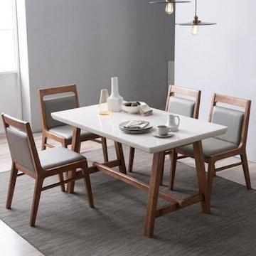 장인가구  아이브 몬드 대리석 식탁세트 1350 (의자4개)