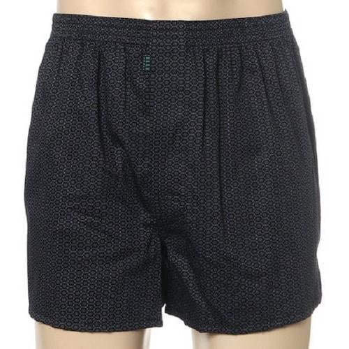 엘르 엘르이너웨어 블랙 벌짚 무늬 남성 트렁크 EHX7656_이미지