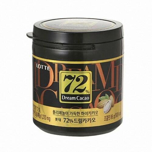 롯데제과  드림카카오 초콜릿 72% 86g (10개)_이미지