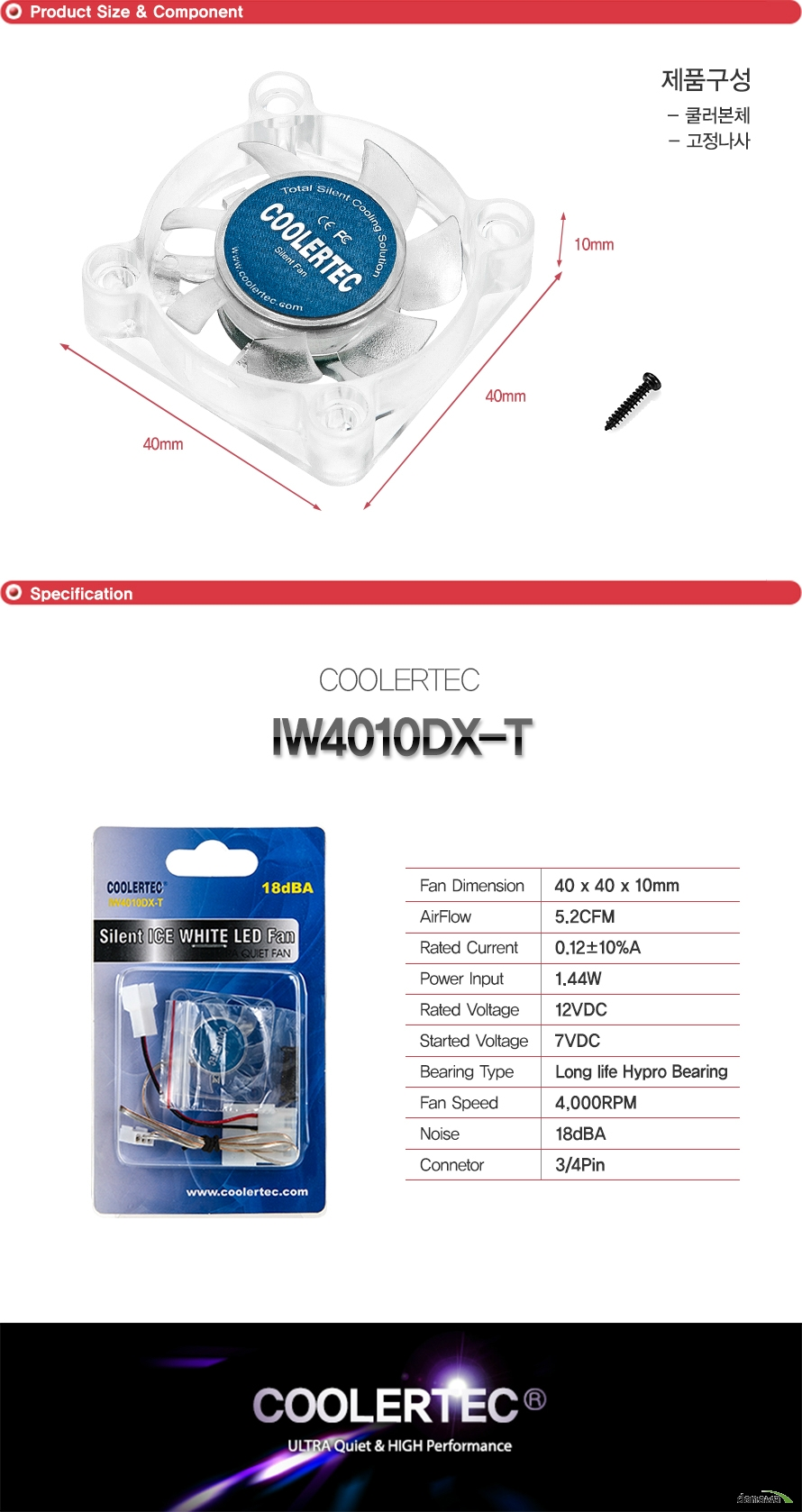 COOLERTEC  IW4010DX-T
