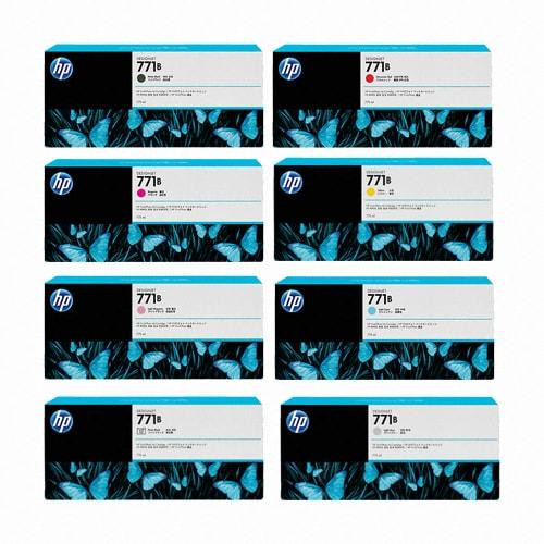 HP  정품 771B (B6X99A, B6Y00A, B6Y01A, B6Y02A, B6Y03A, B6Y04A, B6Y05A, B6Y06A) 8색 세트_이미지