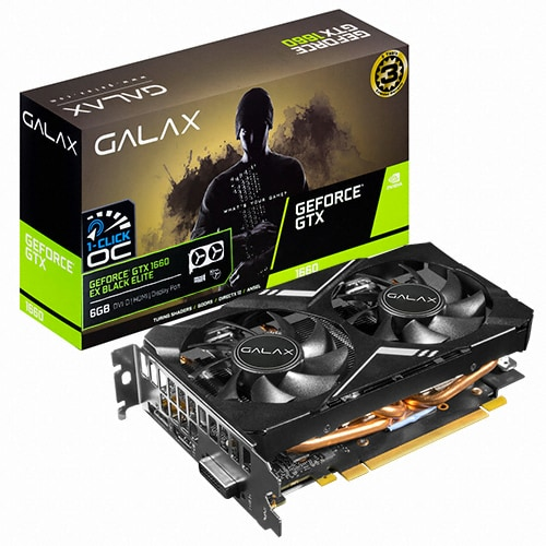 갤럭시 GALAX 지포스 GTX 1660 EX BLACK ELITE OC D5 6GB