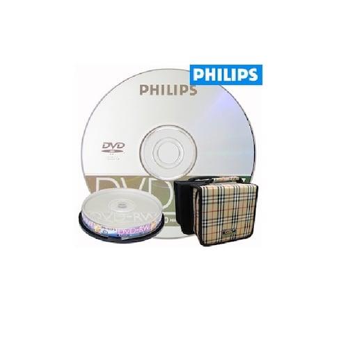 필립스 DVD-RW 4.7GB 4x 케익 10장 + 시디자켓_이미지