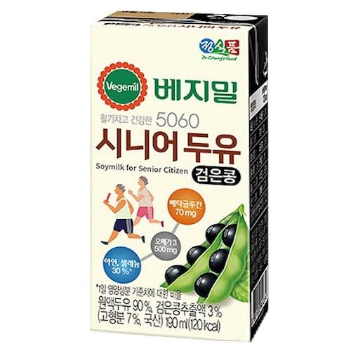 정식품 베지밀 시니어 두유 190ml (32개)_이미지
