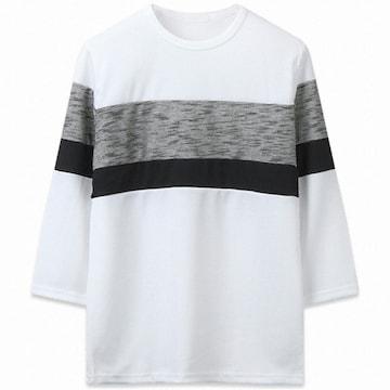 해리슨옴므 남성 와플 사단 7부 티셔츠
