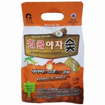 주원테크  원콜 야자숯 (1.2kg, 1개)