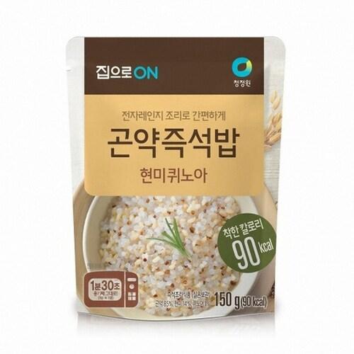 대상 청정원 집으로ON 곤약즉석밥 현미퀴노아 150g (10개)_이미지