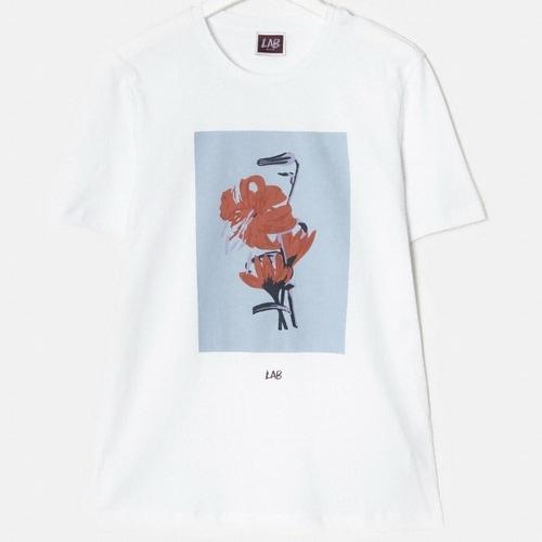 삼성물산 빨질레리 남성 코튼 보태니컬 반팔 티셔츠 PC9142XL51_이미지