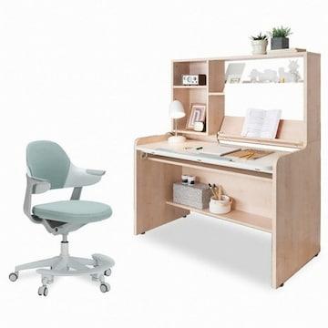 리바트  이즈마인 꼼므 각도조절책상 1200+그로잉 의자 세트(회전) (120x65cm)