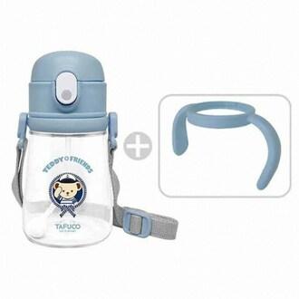 타푸코 테디베어 프렌즈 트라이탄 빨대컵 블루 360ml_이미지
