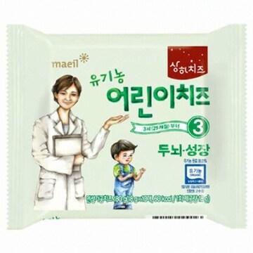 매일유업  상하치즈 유기농 어린이치즈 두뇌성장 3단계 180g (1개)