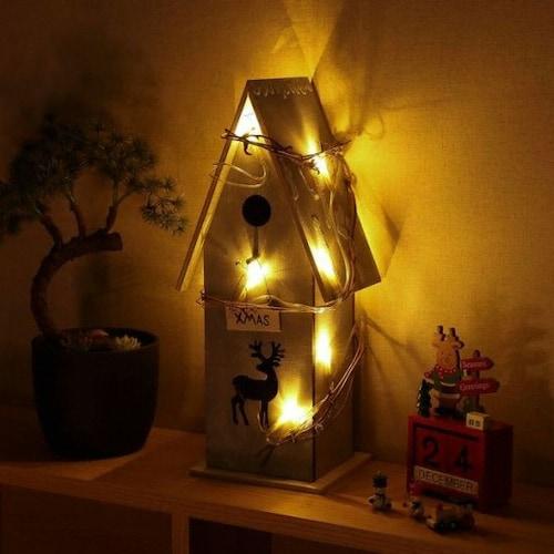 트리 LED 크리스마스 숲속 오두막 무드등_이미지