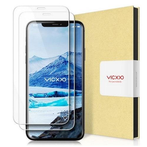 케이엠크레비즈 VICXXO 아이폰12 프로 맥스 2.5C 풀커버 강화유리 보호필름 (액정 2매)_이미지