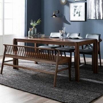 삼익가구  마르셀 천연 고무나무 원목 식탁세트 1850 (의자3개+벤치1개)