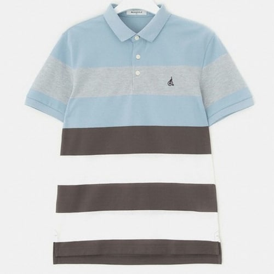 삼성물산 빈폴 브라운 스포티 컬러 블록 칼라 티셔츠 BC8442C15D_이미지