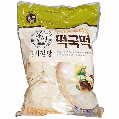 CJ제일제당 즐거운동행 미정당 우리땅 우리쌀 떡국떡 1.5kg (1개)_이미지