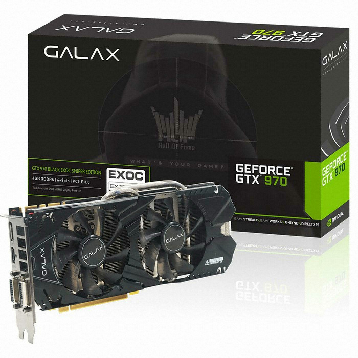 ������ GALAX ������ GTX970 EXOC D5 4GB BLACK LABEL Face Lift