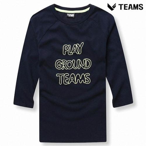 에이션패션 팀스폴햄 공용 7부 소매 나그랑 티셔츠 TPU3TR3244_NV_이미지