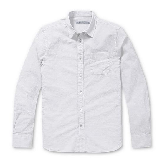 코오롱인더스트리 시리즈 내츄럴 잔조직 코튼 셔츠 SASFM17511WHX_이미지
