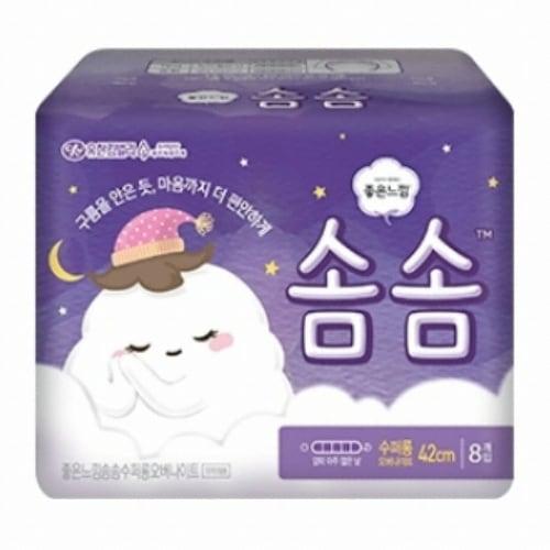 유한킴벌리 좋은느낌 솜솜 수퍼롱 오버나이트 8개 (10팩(80개))_이미지